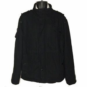 Men's XL Projekraw Black Heavy Winter Coat Militar